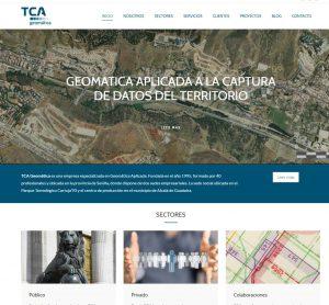 Captura de pantalla de la nueva pagina de inicio de TCA